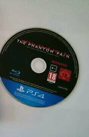 Metal gear solid phantom pain ps4 disc only