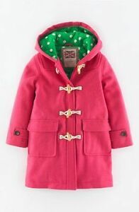 NEW Mini Boden Sweetheart Pink Duffle Coat Size 9 to 10
