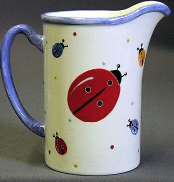 New Ceramic Ladybug Pitcher 11 Ladybugs Lady Bug Bugs