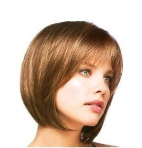 New Fashion Short Light Brown Like human made hair women's full wig