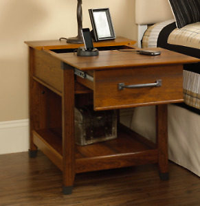 Sauder Carson Forge Smart Center Side Table - NEW and ASSEMBLED