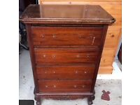 2 x chest of 4 drawers