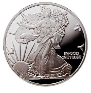 10-X-1-troy-oz-999-SILVER-Coin-Bullion-Medallion-A-S-Eagles-with-SERIAL-NUMBER