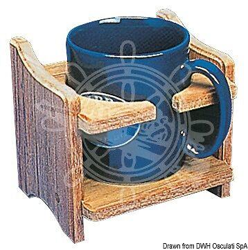 ARC Teak Cup & Tin Holder