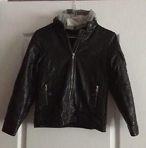 Boys size 6x/7 Leather Jacket