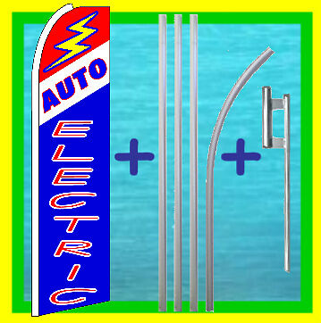 Auto Electric 15 Tall Advertising Swooper Flag Kit Repair Feather Bow Banner