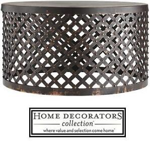 NEW* HDC BRONZE LATTICE PATIO TABLE - 131916546 - HOME DECORATORS COLLECTION SHIVA HAMMERED BRONZE