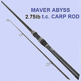 Maver Abyss X Series Brand New 2 piece Carp Rod 12'