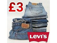 LEVI'S Jeans Authentic Used Mixed Sizes Bundles MOQ 10pcs