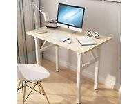 Folding Wooden Computer Desk,Modern Simple Computer Table, 80x60x75cm