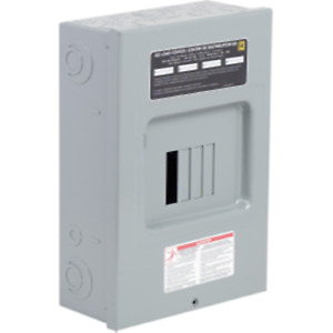 Square D 100 Amp Sub Panel Loadcentre with 4 spaces, 8 Circuits