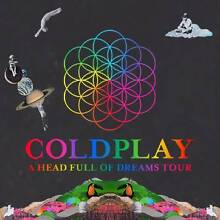 Coldplay Gold Tickets - A Head Full of Dreams Tour - Sydney Frenchs Forest Warringah Area Preview