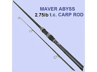 Maver Abyss X Series Brand New 2 piece Carp Rod 12'