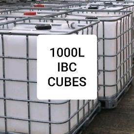 25L 1000L IBC CUBES TANKS WATER CONTAINERS PLASTIC JARS OIL DRUMS