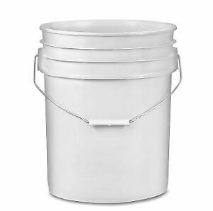 Plastic Pails - 5 Gallon, white, with lids