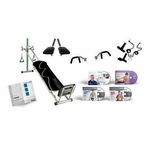 Total Gym Supreme with Six Attachments & Four DVDs LIKE NEW
