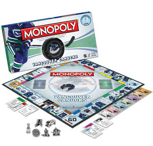 Vancouver Canucks Monopoly at JJ Sports