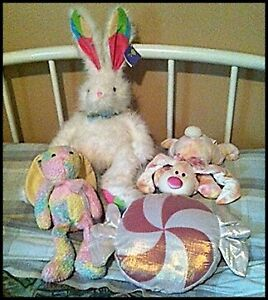 Stuffed Animal Bunnies etc ** $5 - $10 Each** or $20 for all