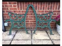 Garden bench ends