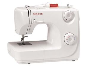 White & Red Singer Sewing Machine