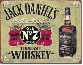 Jack Daniels Hand Made Tin Sign