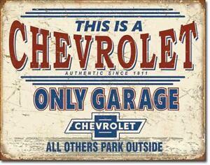 Chevrolet GM Chev Metal Signs