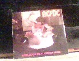 ac/dc vinyl record,45,you shook me all night long.