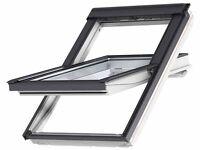 Velux Window, Grey External Poly White Internal, Centre Pivot