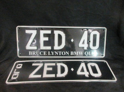 BMW Z4 Number Plate ZED 40