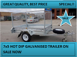 7X5 SINGLE HOT DIP GALVANISED 750KG ATM TRAILER ON SALE NOW