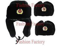 Russian Hat Warm Winter Black Flux Wholesale Job Lot Very Cheap Price Women Ladies Men`s Unisex