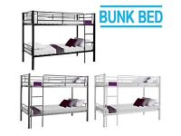 Silver metal bunks. Only used since November (no mattresses)
