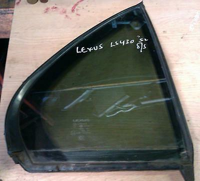 Lexus LS430 Quarter Glass Driver Side Rear 2002 O/S/R QUARTER WINDOW GLASS