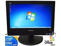 "Lenovo Thinkcentre M71z QUAD Core i5 20"" All in one 2.5Ghz 250GB HDD Webcam Win 7"