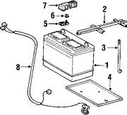 Toyota Battery Hold Down