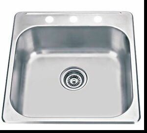 Top Mount Stainless Steel Sink Polished - 20x20x8
