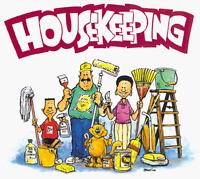 Experienced Housekeeper looking for work!