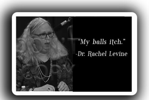 Rachel Levine Decal funny balls itch Trump sticker