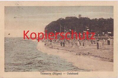 Gebraucht, Ostsee, Rügen,Thiessow, alte Ansichtkarte,AK, Oststrand, Strandkörbe, Badegäste gebraucht kaufen  München