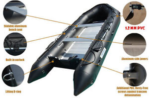 NEW! Aquamarine 10' INFLATABLE BOAT PRO MILITARY BLACK