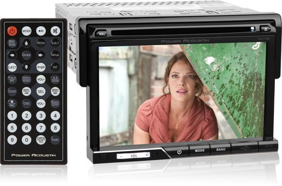 "POWER ACOUSTIK Single DIN Bluetooth CD/DVD Car Stereo w/ 7"" Touchscreen PD-710B"