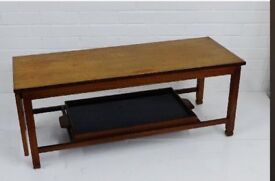 Mid century vintage teak coffee table and serving tray. £30 ONO