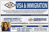 FOR ALL YOUR IMMIGRATION NEEDS PLEASE 6478249000