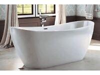 Designer freestanding double slipper bath for £599