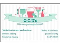Commercial and domestic cleaning.