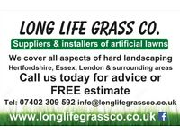 LONG LIFE GRASS CO. Artificial grass Paving Fencing Decking