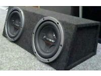 PIONEER SUBS-AMP-SONY SMART DOUBLE DIN STEREO