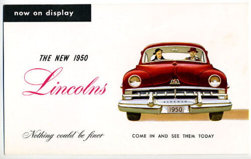 1950 Lincoln Postcard from Young Lincoln/Mercury in St. Paul, Minn.