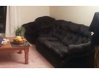 3-seater black sofa and armchair - need gone ASAP