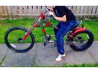 Schwinn Stingray chopper style bike.